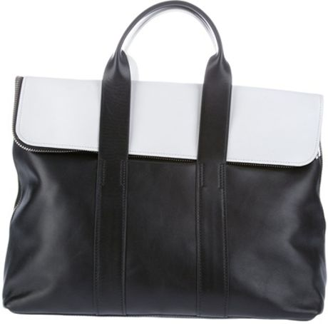 3.1 Phillip Lim Monochrome Bag in White (black) - Lyst
