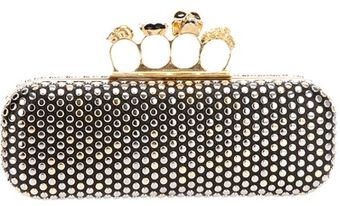 Alexander McQueen Studded Knuckle Duster Top Clutch - Lyst