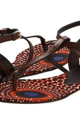 Burberry Leather Strap Gladiator Sandals - Lyst