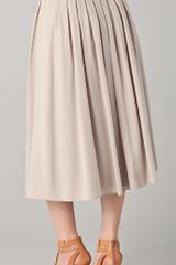 Elie Tahari Frida Skirt in Beige - Lyst
