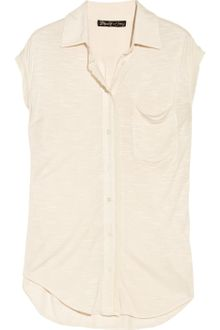 Elizabeth And James Cottontrimmed Jersey Sleeveless Shirt - Lyst