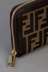 Fendi Monogrammed Wallet in Brown - Lyst
