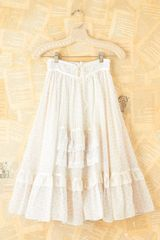 Free People Vintage Lace Tiered Floral Skirt