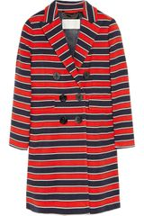 J.Crew Gondola Striped Stretchwool Coat - Lyst