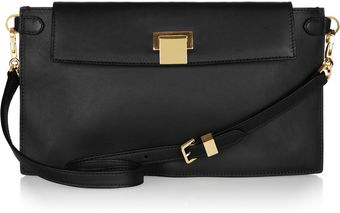 The Row Leather Shoulder Bag - Lyst