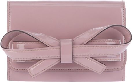 Valentino Bow Clutch in Pink - Lyst