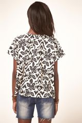 Asos Collection Asos Tshirt with Floral Ikat in White (multi) - Lyst