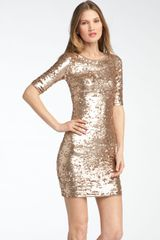 BCBGMAXAZRIA Sequin Dress - Lyst