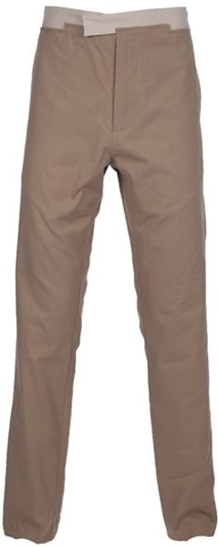 Bottega Veneta Strap Fastening Chino in Beige for Men - Lyst