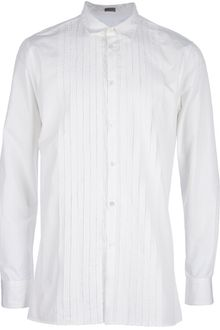 Bottega Veneta Pleated Shirt - Lyst