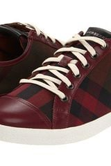 Burberry Canvas Check Low Top Sneaker Harrowby - Lyst