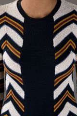 Burberry Prorsum Tribal Print Top in Blue - Lyst
