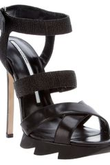 Camilla Skovgaard Strap Saw Stiletto in Black - Lyst