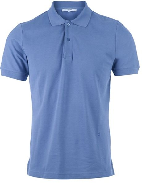 Carven Short Sleeve Polo Neck in Blue for Men - Lyst