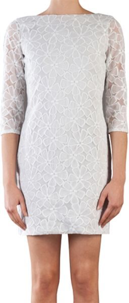 Diane Von Furstenberg Sarita Tulle Lace Dress  in White (chalk) - Lyst