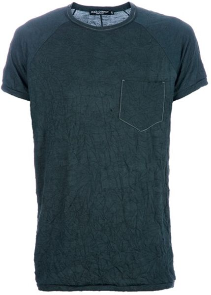 Dolce & Gabbana Creased Tshirt in Gray for Men (grey) - Lyst