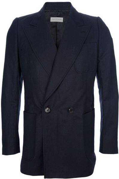Dries Van Noten Bronte Blazer in Blue for Men - Lyst