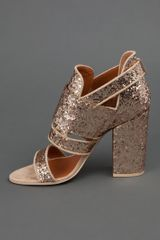 Givenchy Glitter Shoe in Gold - Lyst