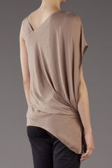 Helmut Lang Orbit Top in Brown (gold) - Lyst