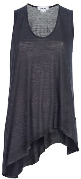 Helmut Lang Asymmetric Vest in Gray (grey) - Lyst