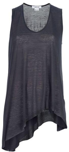 Helmut Lang Asymmetric Vest in Gray (grey)