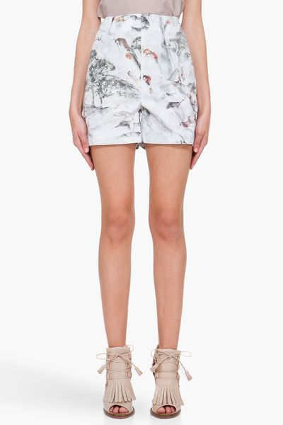 Hussein Chalayan Cave Painting Nothing Shorts in Multicolor (green) - Lyst