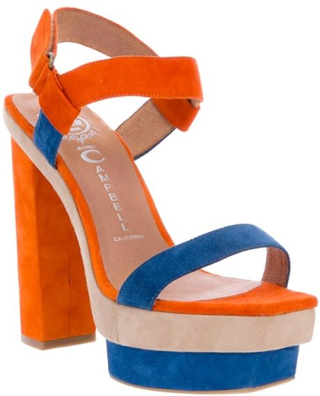 Jeffrey Campbell Martha Sandal in Blue (nude) - Lyst