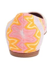 Missoni Ballet Flat in Multicolor (multi pink) - Lyst