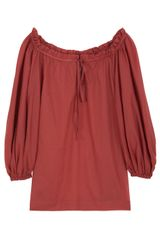 Paul & Joe Cotton Smock Top in Red - Lyst