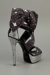 Philipp Plein Star Print Sandal in Black - Lyst