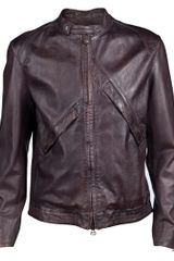 Vivienne Westwood Leather Jacket in Brown for Men - Lyst