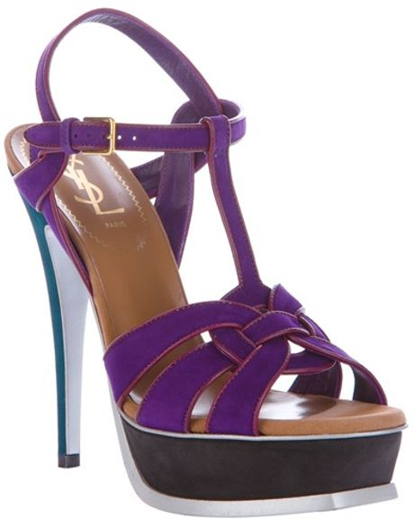 Yves Saint Laurent Tribute Sandal in Purple - Lyst