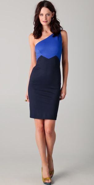 Zac Posen One Shoulder Dress - Lyst