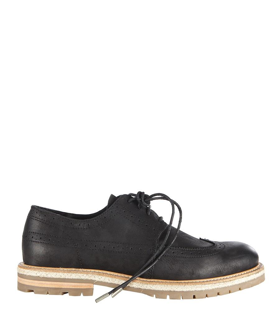 allsaints carve shoe in black for washed black lyst