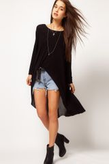 ASOS Collection Asos Top with Extreme Dip Back with Chiffon Cross - Lyst