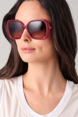 Balenciaga Twisted Temple Sunglasses in Purple (fuchsia) - Lyst