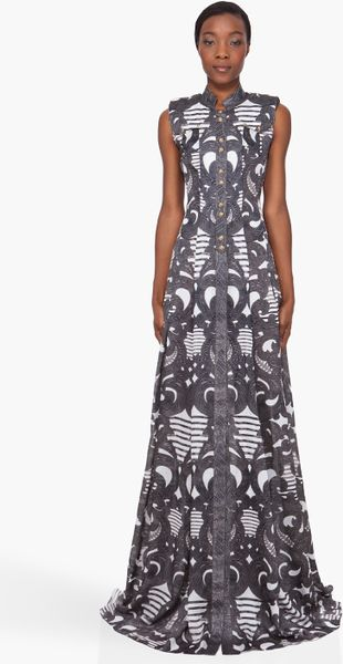 Balmain Spiral Print Silk Dress - Lyst