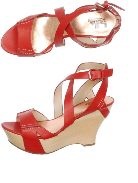 Belle By Sigerson Morrison Colton Wedge Shoes in Multicolor (red) - Lyst