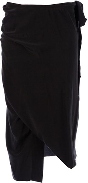 Damir Doma Wrap Skirt in Black - Lyst