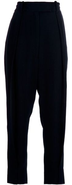 Diane Von Furstenberg Drop Crotch Trouser in Black - Lyst