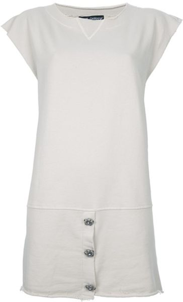 Dolce & Gabbana Tshirt Dress in Beige - Lyst