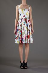 Dolce & Gabbana Floral Dress in Multicolor (floral) - Lyst