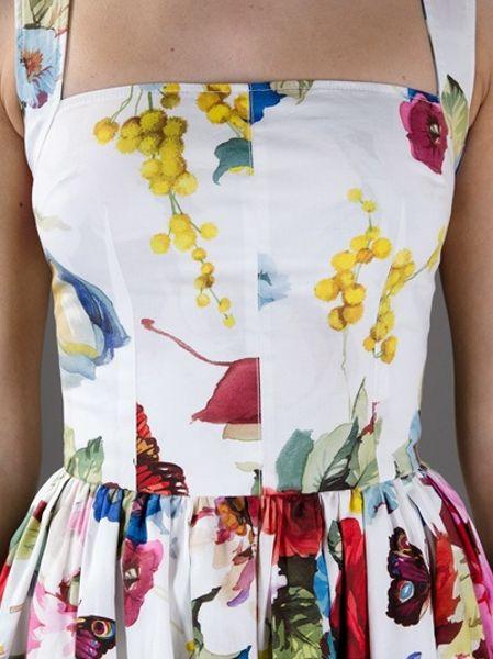 Dolce Amp Gabbana Floral Dress In Multicolor Floral Lyst