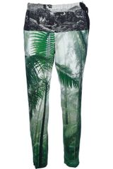 Dries Van Noten Printed Silk Trouser