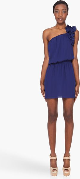 Dsquared2 Navy Silk Charlene Dress in Blue (navy) - Lyst