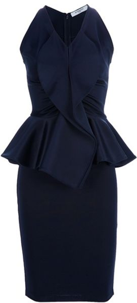 Givenchy Peplum Dress - Lyst