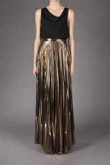 Haider Ackermann Maxi Skirt in Gold - Lyst