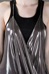 Haider Ackermann Draped Top in Silver - Lyst