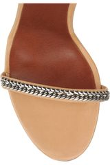 Isabel Marant Rio Chainstrapped Leather Sandals in Beige (nude) - Lyst