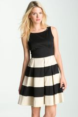 Kate Spade Celina Pleated Stripe Dress - Lyst